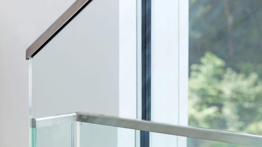 Geländer, Glas. Metall