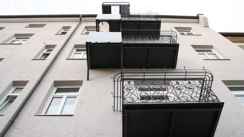Balkonanlage, Metall, handgeschmiedet