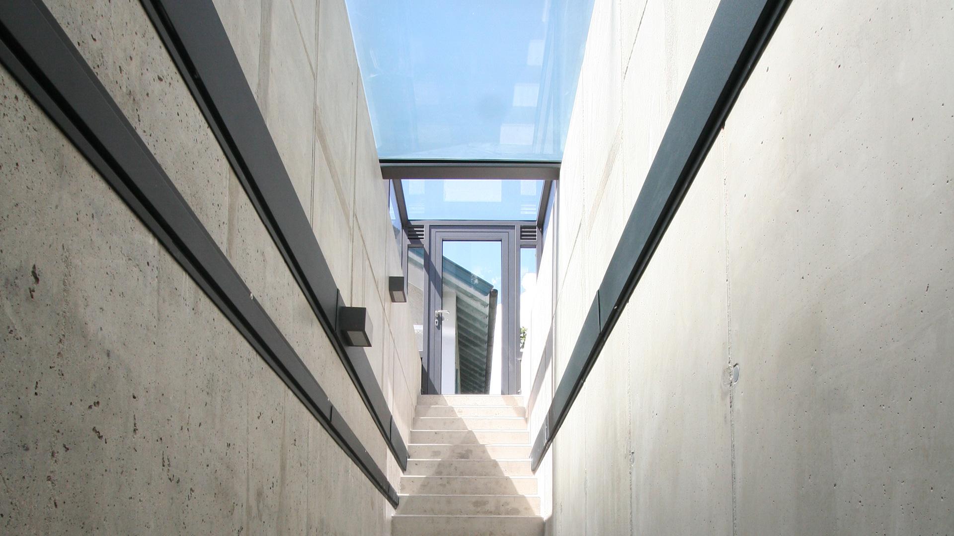 Überdachung, Treppenabgang