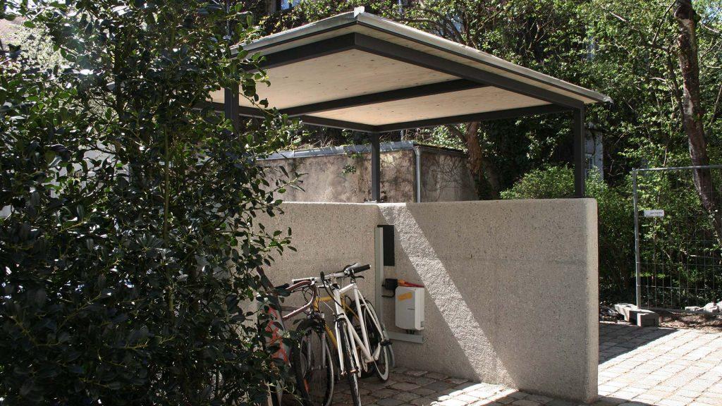 Überdachung, Fahrradabstellplatz